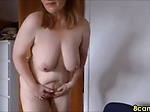 mature woman gets naked for you and masturbates