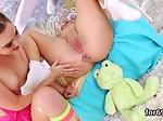 Lesbian dolls open up their deep assholes and drill hug