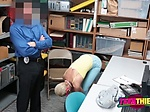 Arie is bent over on the desk for a hard banging by hor