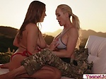 Two Busty Ladies does 69 pussy lick...