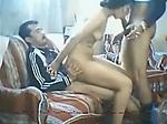 Arab amateur threesome with milf Na...