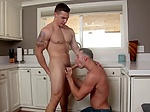 Two friends enjoy kitchen sex and p...