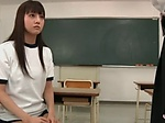 Asian schoolgirl goes for a cock