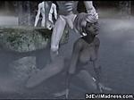 3D Girl Gangbanged by Freak Monsters