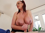 Milf babe big tits Emma Butt is all ready for her massa