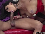 Amber and Kira enjoy sucking and riding Vinnys cock Vinny and two hot babes Amber Jayne and Kira Queen are so fucking h...