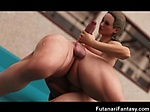 3D Futanari Babes Cum In Own Face