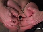 Slave butt plugged and ass fucked