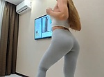 Teen Squirting in Yoga Pants  Watch Part2 on CUMCAMCO
