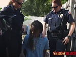 Perverted milf cops take suspect to lonely alley and fu