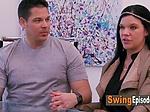 Swinger amateur couples learn some striptease moves aft