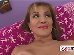 Slut looking granny gets her coochie drilled by horny s