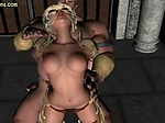 Hot animated babe gets rammed