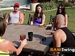 Redneck swingers party then group sex